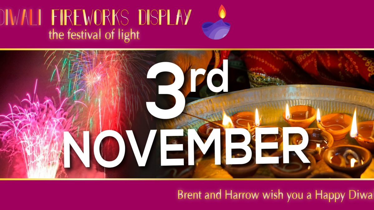 Brent Diwali and guy fawkes Fireworks