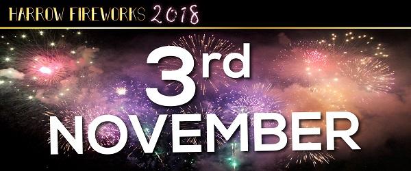 Harrow_Fireworks_2018_Web Banner_3rd November-01